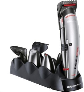 Strojek na vousy a vlasy Babyliss E835E je plně vodotěsný pro použití ve sprše