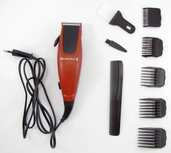Obsah balení levného zastřihovače vlasů Remington HC5018