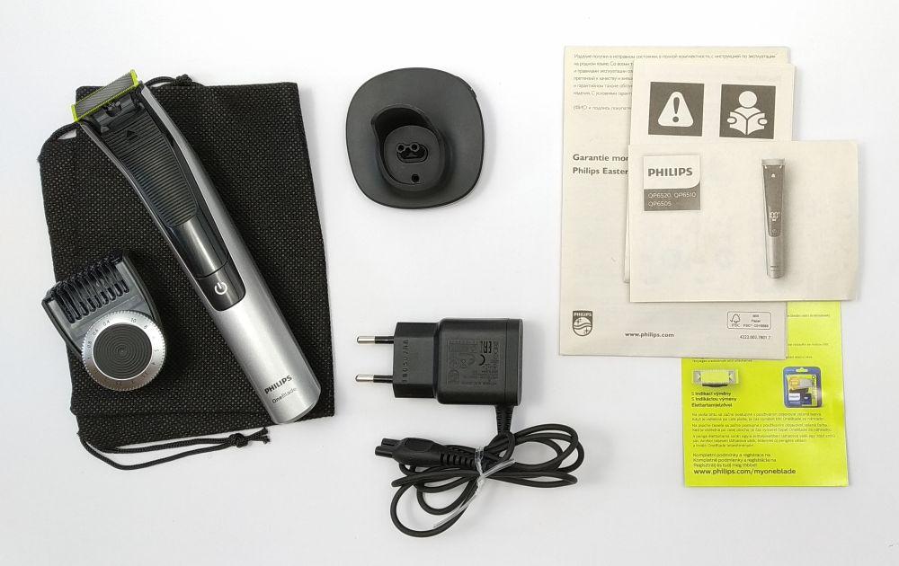 Obsah balení strojku Philips QP6520