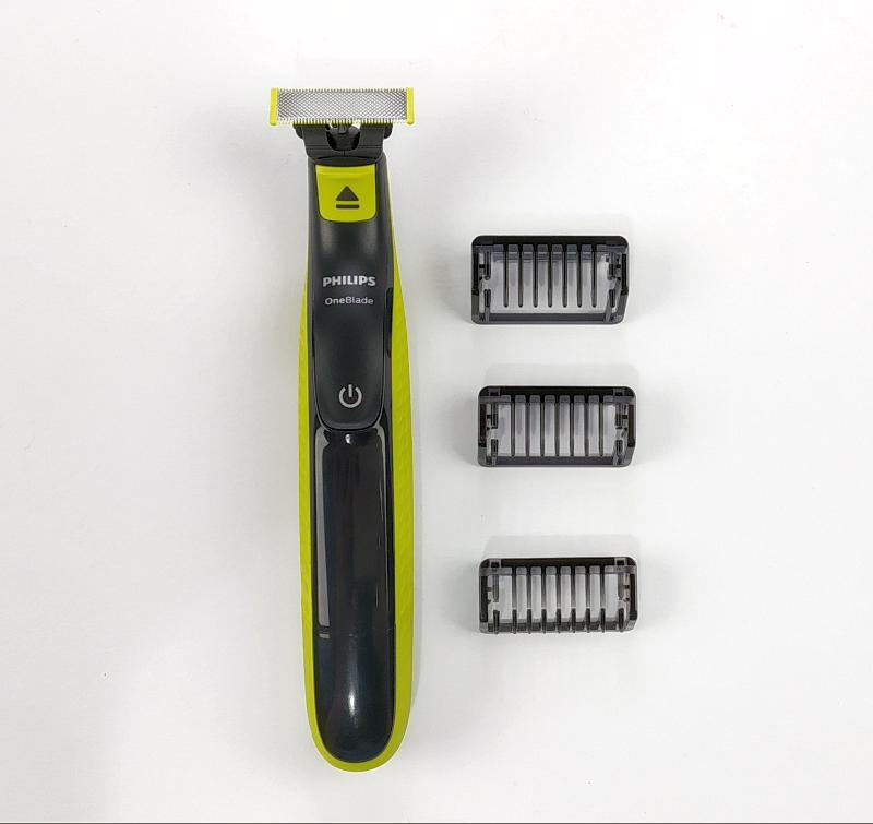 Zastřihovač Philips OneBlade QP2520/20 nabídne pouze omezené možnosti volby délky zastřižení v podobě tří pevných naástavců   Délky 1 - 3 - 5 mm