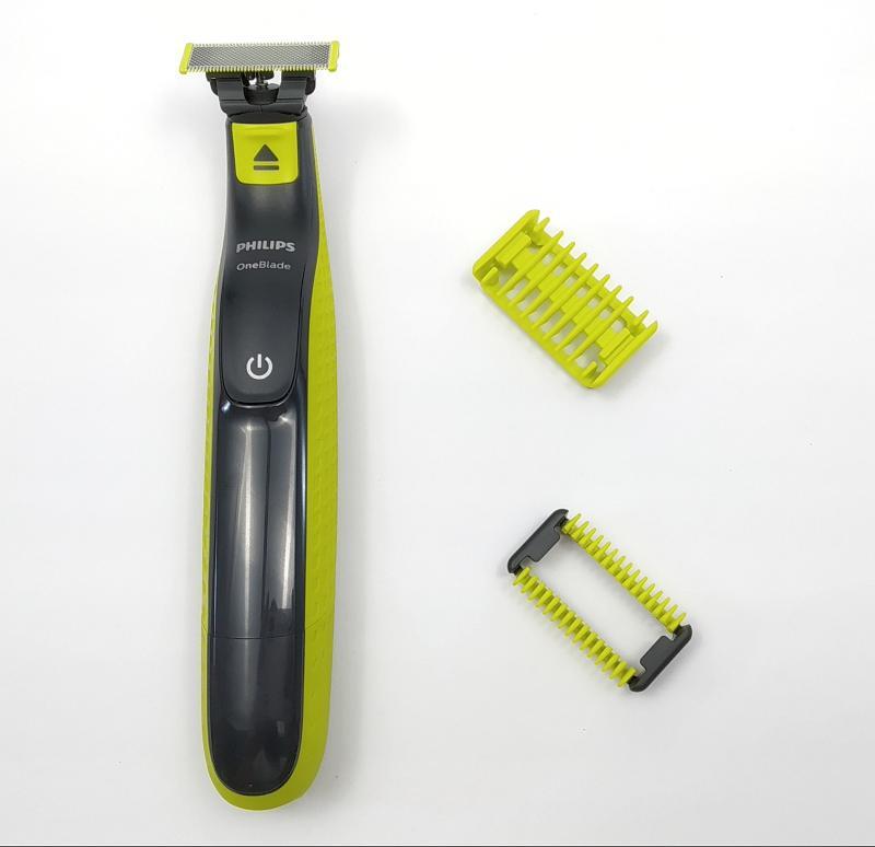Pro zastřihovač Philips QP2520 si můžete dodatečně koupit sadu 2 speciálních nástavců pro bezpečné holení těla   Dílky 1 mm (dole) a 3 mm